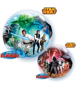 "Ballon single Bubble Star Wars (22"" - 56 cm)"