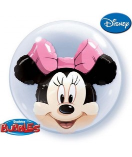 Ballon double Bubble Minnie Mouse