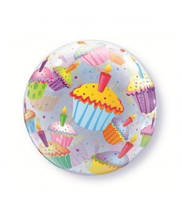 "Ballon single Bubble Cupcakes (22"" - 56 cm)"