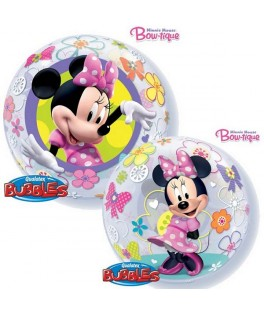 Ballon single Bubble Minnie Mouse Bow-tique