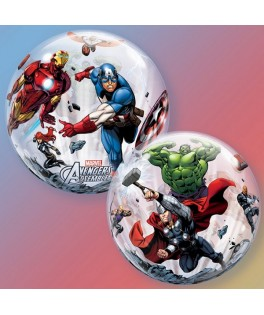 "Ballon single Bubble  Avenger Assemble (22"" - 56 cm)"