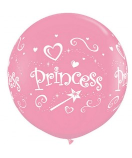 Ballons latex Princesse Rose   (3' - 86,3 cm)  x2