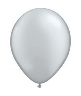 100 Ballons latex métal Argent 12,5 cm