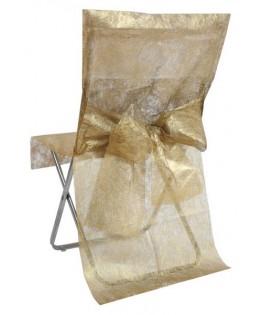 housse de chaise doree