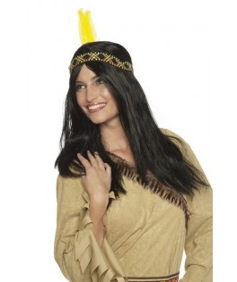perruque indienne apache noire