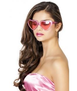 lunettes cœurs strass adulte
