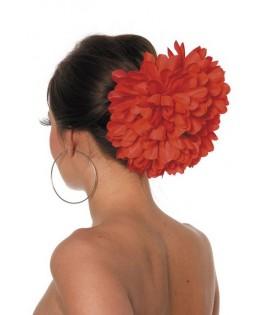 Grosse fleur rouge danseuse Flamenco