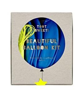 kit 8 ballons bleu meri meri