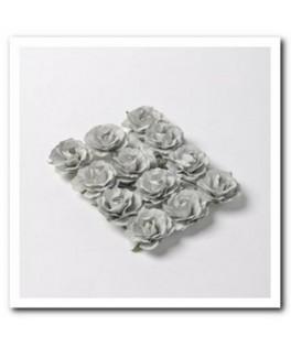 fausses roses a piquer gris