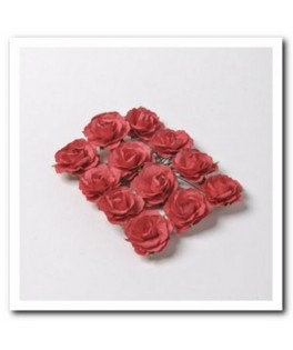 fausses roses a piquer rouge