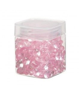 Pot mini diamants pvc rose