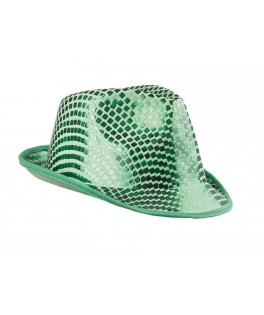 chapeau borsalino sequins vert
