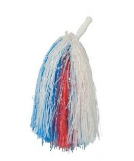 Pom pom Supporter tricolore Bleu Blanc Rouge