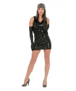 déguisement robe paillettes disco noir