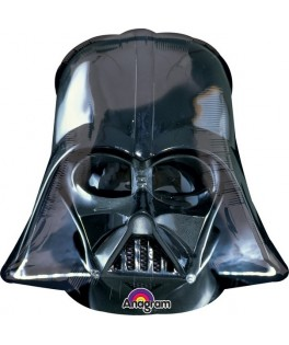 Ballon alu superforme Masque Noir Darth Vader (63 x 63 cm)