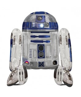 Ballon alu Marcheur Star Wars R2D2 (86 x 96 cm)