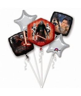 Bouquet de 5 ballons Star Wars The Force Awakens