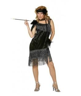 deguisement robe charleston de luxe noir femme