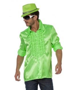 deguisement chemise ruche disco vert