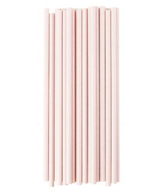 pailles papier roses