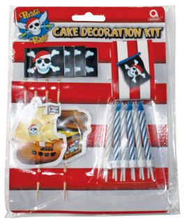 kit decoration pour gateaux pirate