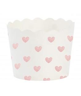 caissette à cupcake coeur rose