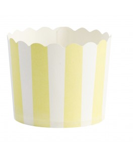 caissettes a cupcake jaune