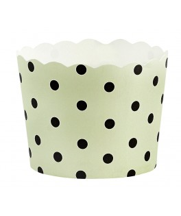 caissettes a cupcake vertes pois noirs