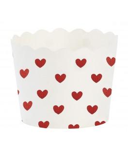 caissettes a cupcake blanches et rouges