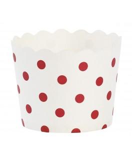 caissettes cupcake blanches  et rouges