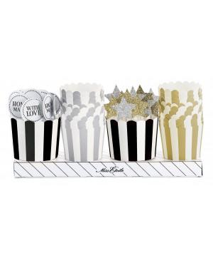 kit decoratif cupcakes or argent