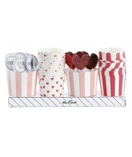 kit decoratif moules pour cupcakes rouge