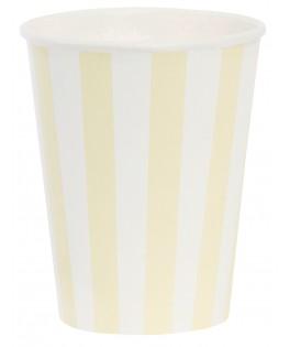 gobelets rayes jaune
