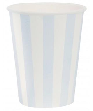 gobelets rayures bleu