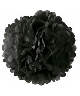 Pompon papier - 35 cm noir
