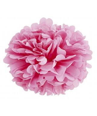 Pompom papier rose