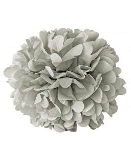 pompon papier gris 15 cm