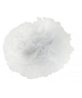 pompom papier blanc