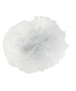 pompon papier blanc 42 cm
