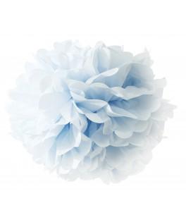 pompon papier bleu 35 cm