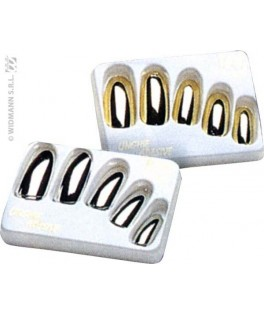 boite 15 faux ongles or