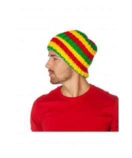 Bonnet rasta rouge et jaune