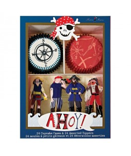 kit decoratif a cupcakes pirate ahoy meri meri