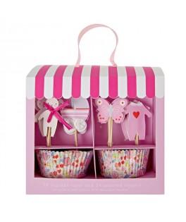 cupcakes bebe fille rose meri meri