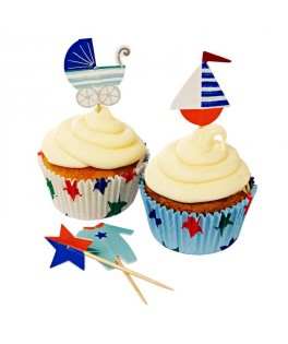 kit decoratif a cupcakes pirate