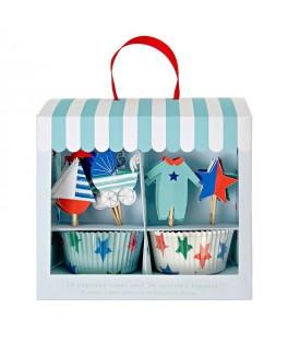 cupcakes naissance garcon baby shower