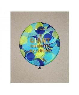 ballons geants confettis bleu