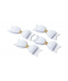 etiquette noeud papillon or