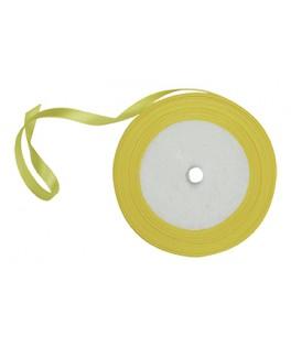 Bobine ruban satin jaune