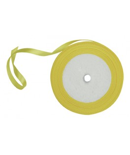 ruban satin jaune